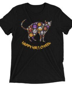 Happy Halloween Cat Short Sleeve T-Shirt