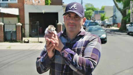 Paul Santell with Kitten